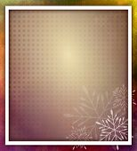 Christmas Frame With Snowflakes - Grunge Style