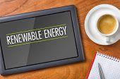 Tablet on a desk - Renewable Energy