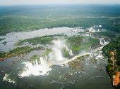 Aerial View Of Iguazzu Falls Landscape