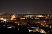 Rome Overview At Night