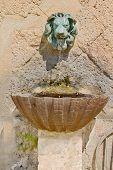 Old medieval water sink