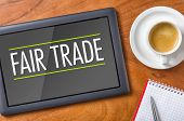 Tablet on a desk - Fair Trade