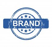 Business brand concept stamp with stars isolated on a white background.