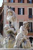 Neptune Fountain in Rome, Italy