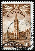 Vintage  Postage Stamp. Ottawa. Parlament Buildings.