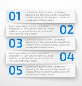Modern white infographic business options banner