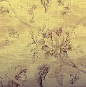 Vintage Beige Wallpaper With Shabby Chic Floral Pattern