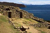 Ruins of Chinkana on Isla del Sol in Lake Titicaca, Bolivia