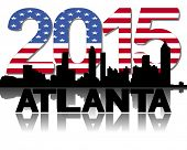 Atlanta skyline 2015 flag text illustration