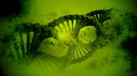 stock photo of nanotechnology  - structure of the DNA  - JPG