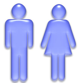 picture of male female  - Male and Female symbol created as a translucent gel graphic - JPG
