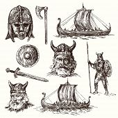 pic of viking ship  - vikings  - JPG