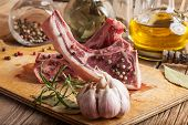 image of lamb shanks  - Raw lamb chop ready for frying - JPG