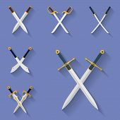 picture of longsword  - Icon set of ancient swords - JPG
