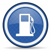 image of petrol  - petrol blue icon gas station sign  - JPG