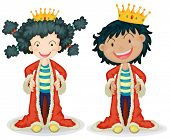 picture of fable  - Children dressing up as king  - JPG