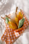 image of popsicle  - Cool off in summer with a break at the base of the fruit popsicles  - JPG