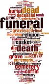 picture of urn funeral  - Funeral word cloud concept - JPG