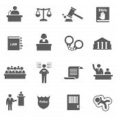 picture of justice  - Set of law justice legal lawer judge icons - JPG