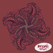 stock photo of marsala  - Marsala inspired trendy patternfashionable sophisticated shade - JPG