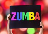picture of zumba  - Zumba card with bokeh background - JPG