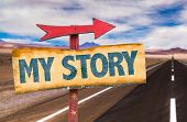 picture of storybook  - My Story sign with road background - JPG