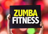 foto of zumba  - Zumba Fitness card with bokeh background - JPG