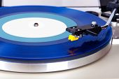 pic of cartridge  - Analog Stereo Turntable Vinyl Blue Record Player Headshell Cartridge - JPG