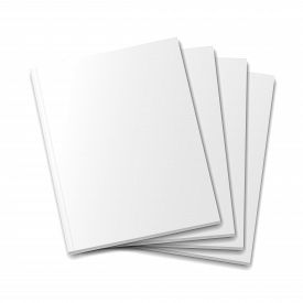 picture of pamphlet  - Blank  covers mockup magazine template on white background - JPG