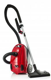 stock photo of sweeper  - New Vacuum Cleaner isolated on a white background - JPG