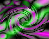 Explosion Of Green Neon - Digital Illustration