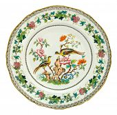 An antique Minton plate c1838, Asiatic Pheasant design - genuine antiques series