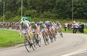 TELFORD, UK - SEPTEMBER 10: Tour of Britain Cycle Race - Team Agritubel Lead the Chase Pack 2 mins B