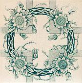 echte viktorianischen tile c1890 im Meer Grün und ästhetischen Stil