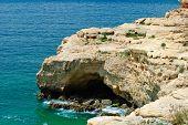 Rocky Outcrop Into The Mediterranean Sea