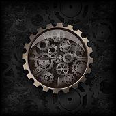 Metal Clock Gear Mechanism poster