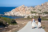 Tourists At Capo Testa, Sardinia