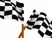 Finishing Checkered Flag