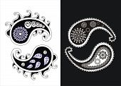 Set Of  Paisley (turkish Cucumber) Vector Patterns