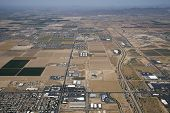 Aerial view of Growth Near Goodyear, Arizona