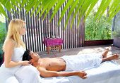 cranial sacral massage therapy in Jungle cabin tropical rainforest
