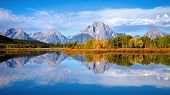 Tetons At Oxbow Bend