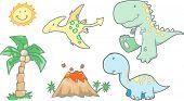 Baby Dinosaurs Vector Illustration