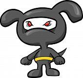 Dog Ninja Vector Illustration
