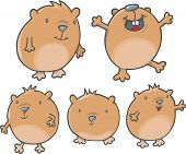 stock photo of guinea pig  - Happy Guinea Pig Vector Illustration - JPG