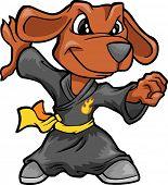 Kung Fu Dog Vector Illustration