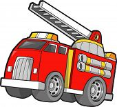 pic of fire truck  - Fire Truck Vector Illustration - JPG