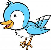 Blue Bird Vector Illustration