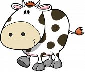 Cute Cow Vector Illustration