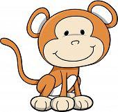 Safari Monkey Vector Illustration